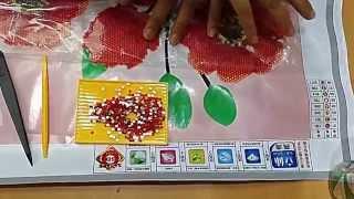 Hướng dẫn làm tranh gắn đá _CANDY SHOP_tranhtheuchuthap.vn