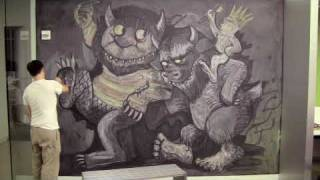Jamin s Crazy Chalk Drawing - Where The Wild Things Are