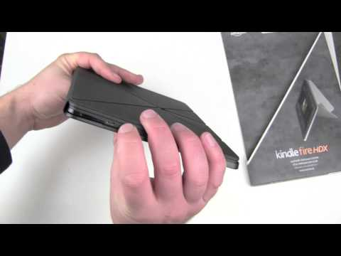 Amazon Leather Origami Case Kindle Fire HDX 8.9 Unboxing