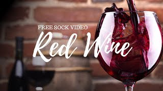▼ Red Wine ▼ - stock video / FREE TO USE / HD