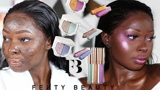 FULL FACE USING FENTY BEAUTY BEACH PLEASE COLLECTION 💁🏿|Shalom Blac