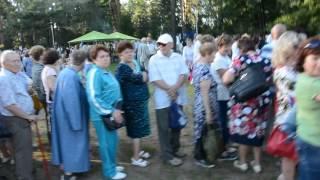 Очередь за бесплатной кашей на празднике Выль, Ижевск 2 августа