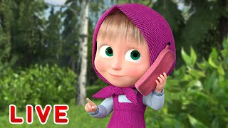 🔴 LIVE STREAM 🎬 Masha and the Bear 🐻👱♀️ Lessons at home 🏡📚