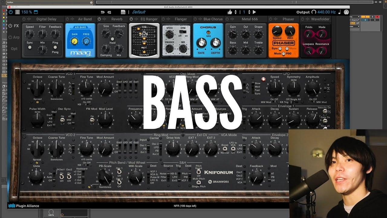 Knif Audio Knifonium - Bass Demonstration with Matthew Wang