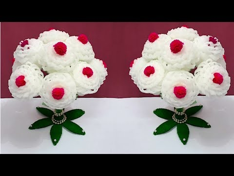 Guldasta With Foam Flower And Waste Plastic Bottle At Home|Best Out Of Waste Guldasta/Flower Pot