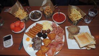 "Tony's Breakfast Challenge Massive Proper Full Irish ""godfather"" Fry Up!!"