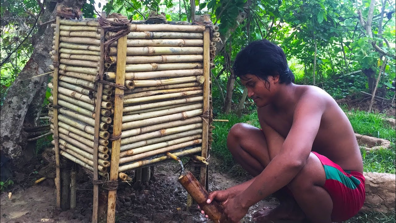 Secret Of Primitive: Build Water Filter Tank