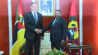 Встреча С.Лаврова с Президентом Республики Мозамбик Ф.Ньюси