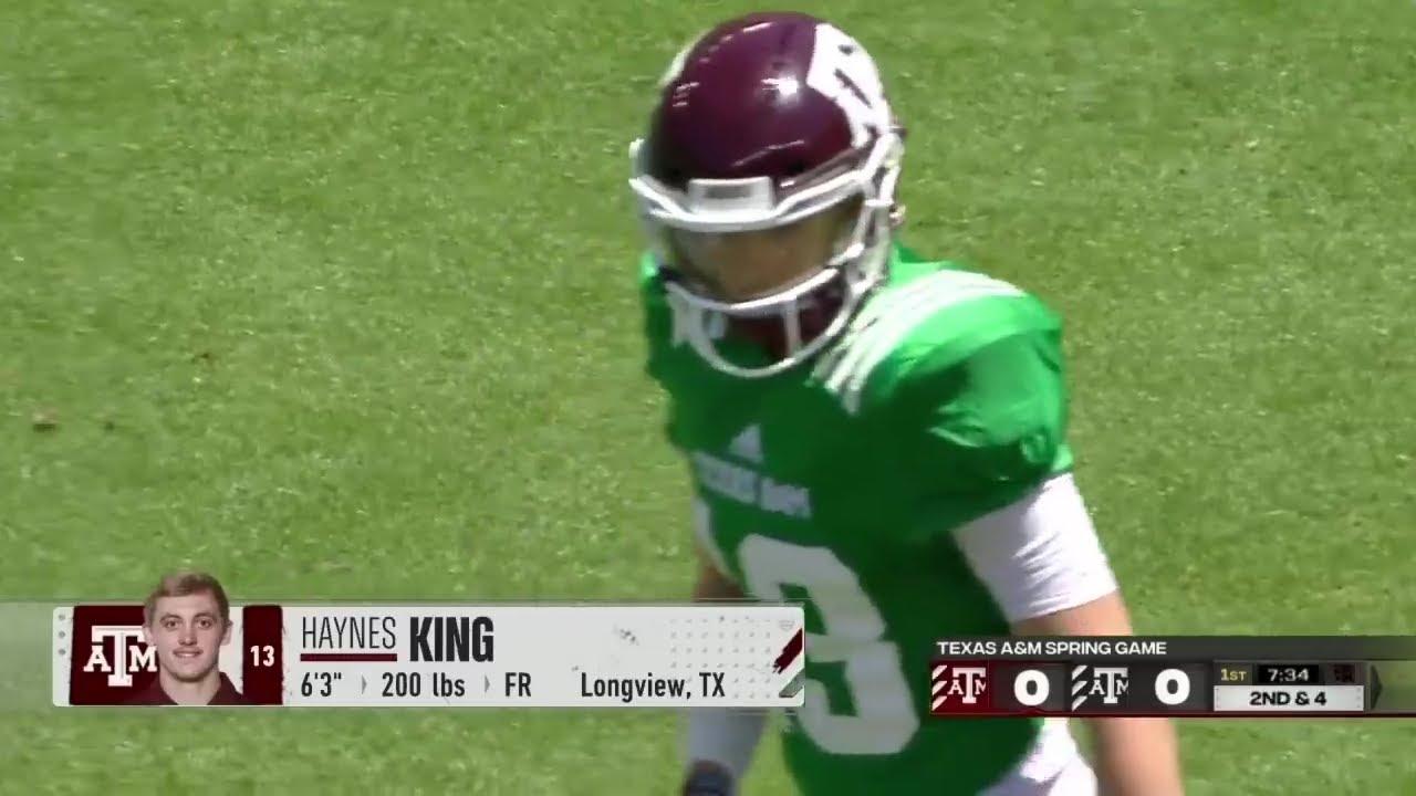 WATCH: Texas A&M QB Haynes King First Touchdown Vs. Kent State