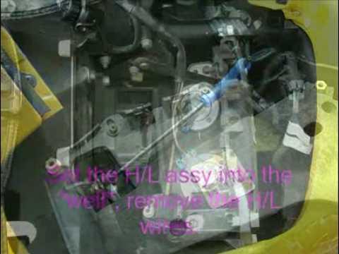 Corvette C5 Headlamp Motor Repair Youtube