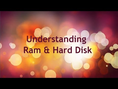 Difference between Ram and Hard Drive
