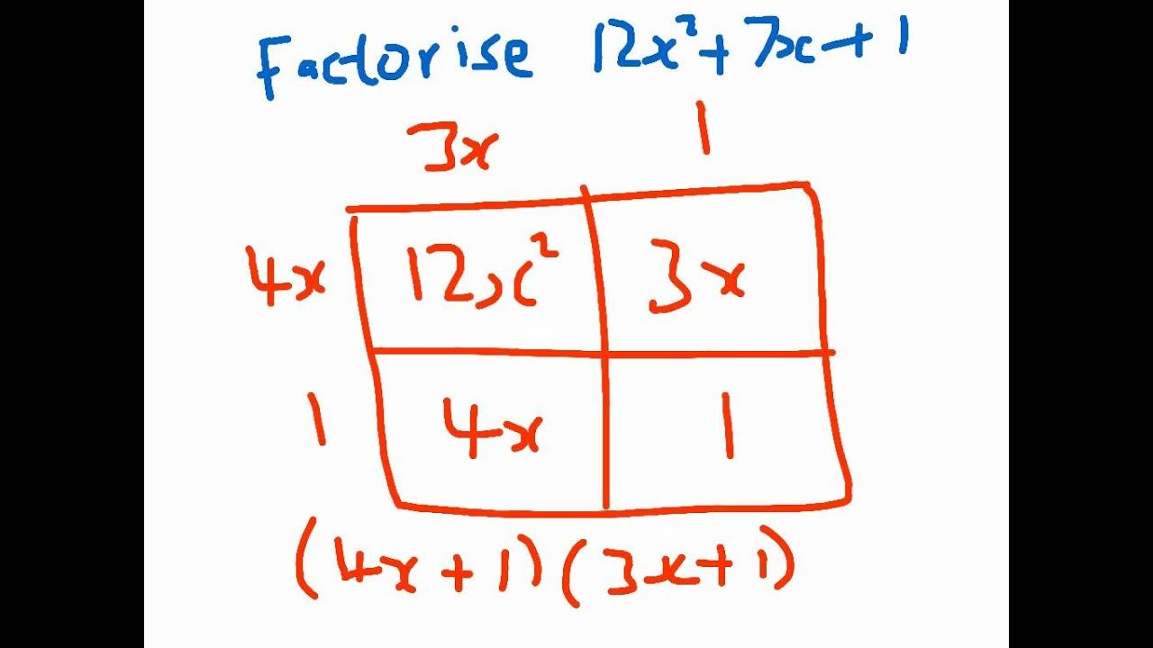 Factorising quadratics - YouTube