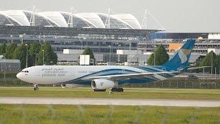 oman air airbus a330 343 a4o dh arrival at munich airport landung flughafen mnchen