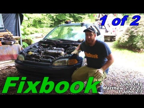 """Engine Transmission Swap Replace """"How to"""" 92-00 Honda Civic"""