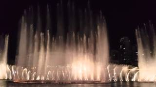Dubai Mall Water Fountain Show 28.02.2016