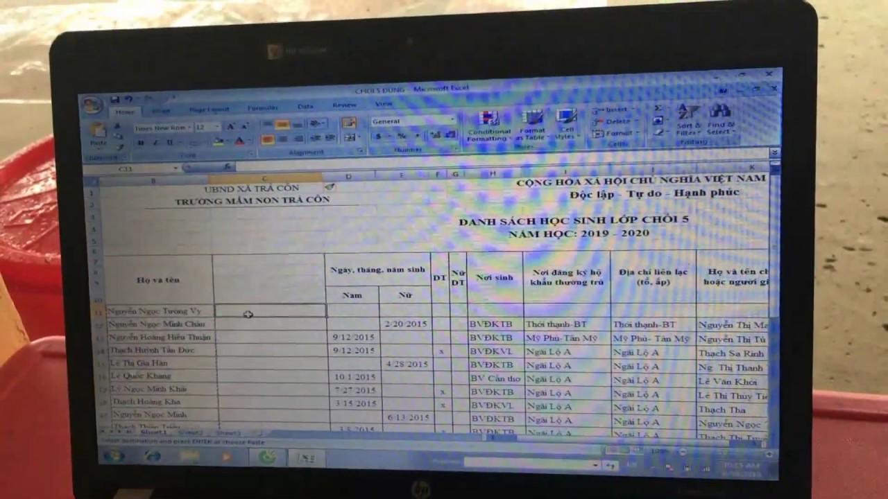 Hướng dẫn sắp xếp tên theo thứ tự ABC trong Excel