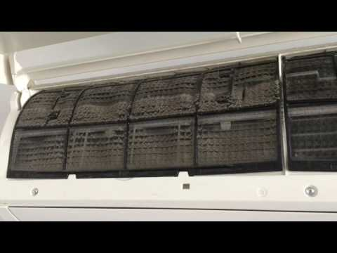 How to clean filters for a Daikin wall mounted split inverter unit