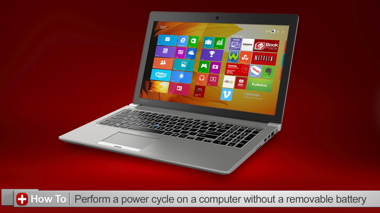 Toshiba How-To: Performing a power cycle on a Toshiba laptop with a non- removable battery - YouTube