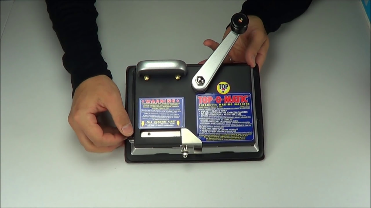 Top-O-Matic Cigarette Rolling Machine Injector Product Overview & Demo