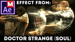 After Effects Tutorial: Soul Effect from Doctor Strange movie Astral Projection