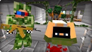 Зомби прорвались на военку [ЧАСТЬ 15] Зомби апокалипсис в майнкрафт! - (Minecraft - Сериал)