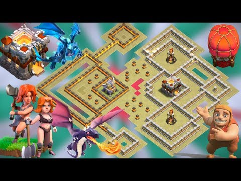 TH11 War Base 2019 Anti 3 Star Anti E-Dragon Anti Valkyrie Anti Dragon Clash Of Clans