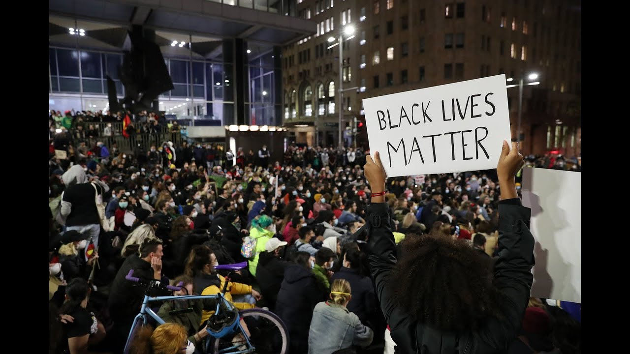 12,000-strong crowd conduct BLack Lives Matter protest in Sydney's CBD
