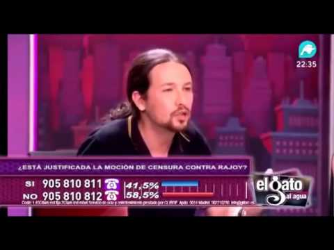 PABLO IGLESIAS CANTA MIEDO DE M-CLAN