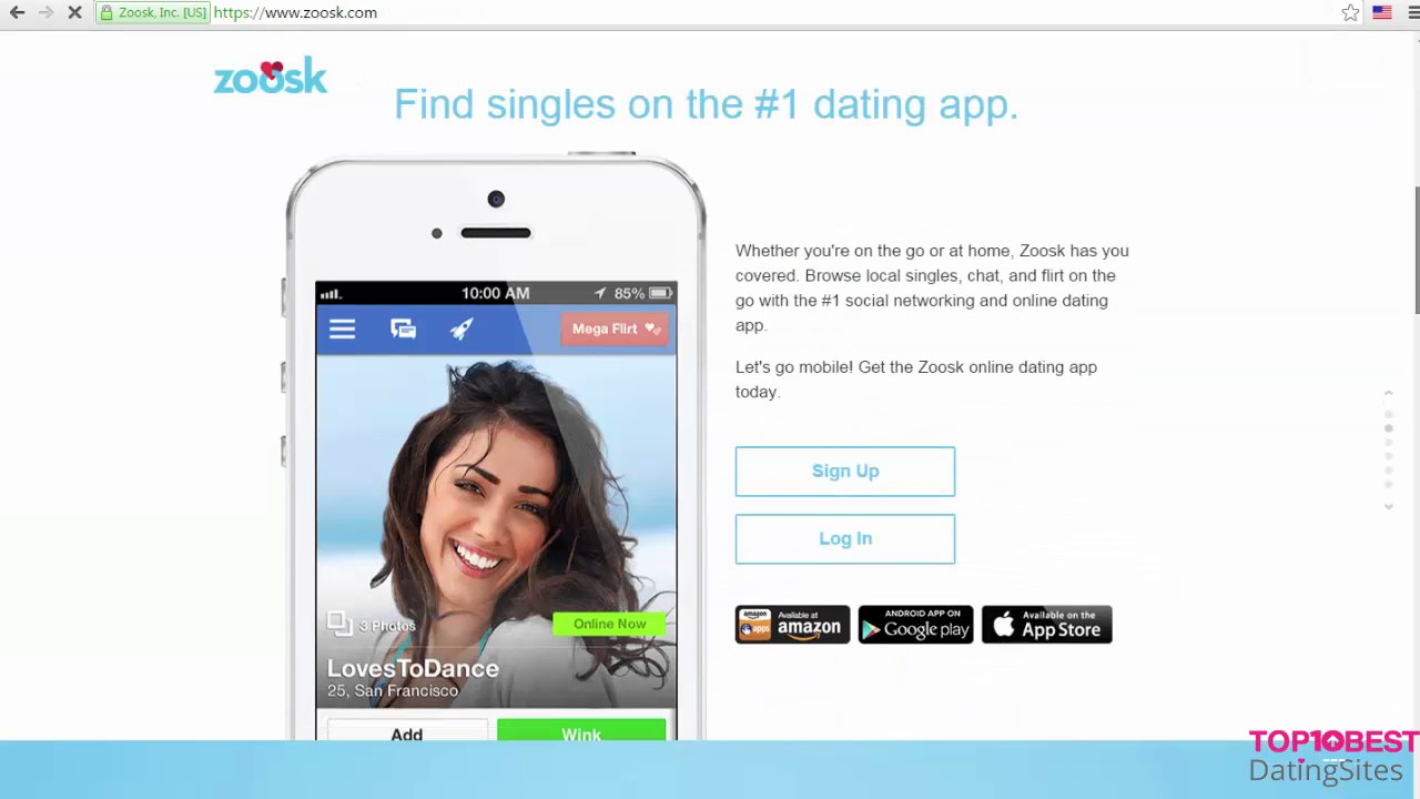 Zoosk dating site commercial