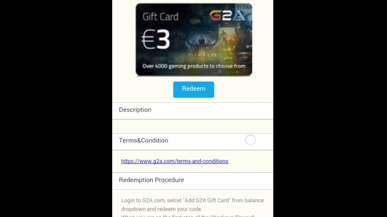 How to get Paypal cash , G2A , Amazon Free gift cards 20€ - YouTube