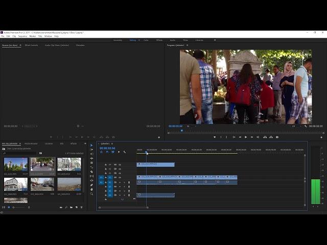 Premiere Pro Eğitimi 08 -  Zaman Çizelgesinde Video Kanallarını yönetmek