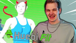 Wii Fit fängt aฑ mich durchzunehmen - #HuebiFit