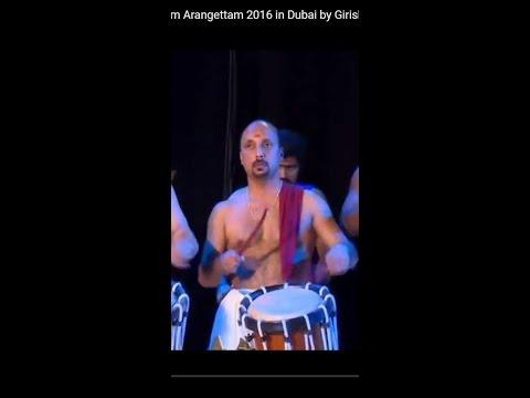 Chenda Melam Panchari Pathikalam Arangettam 2016 in Dubai by Girish Kanissery with Sadhanam Rajesh