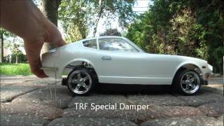 TRF Special Damper vs Tamiya Stock Suspension  - Bounce Test