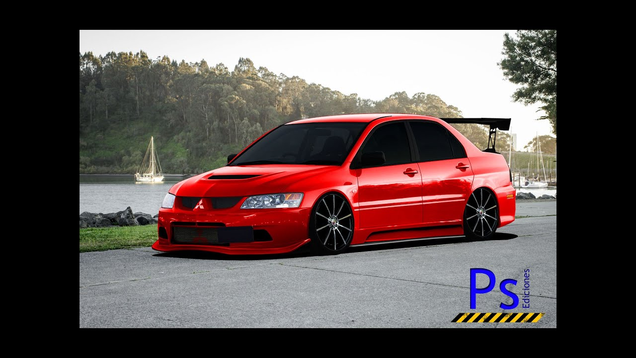 virtual tuning photoshop mitsubishi lancer evolution iii. Black Bedroom Furniture Sets. Home Design Ideas