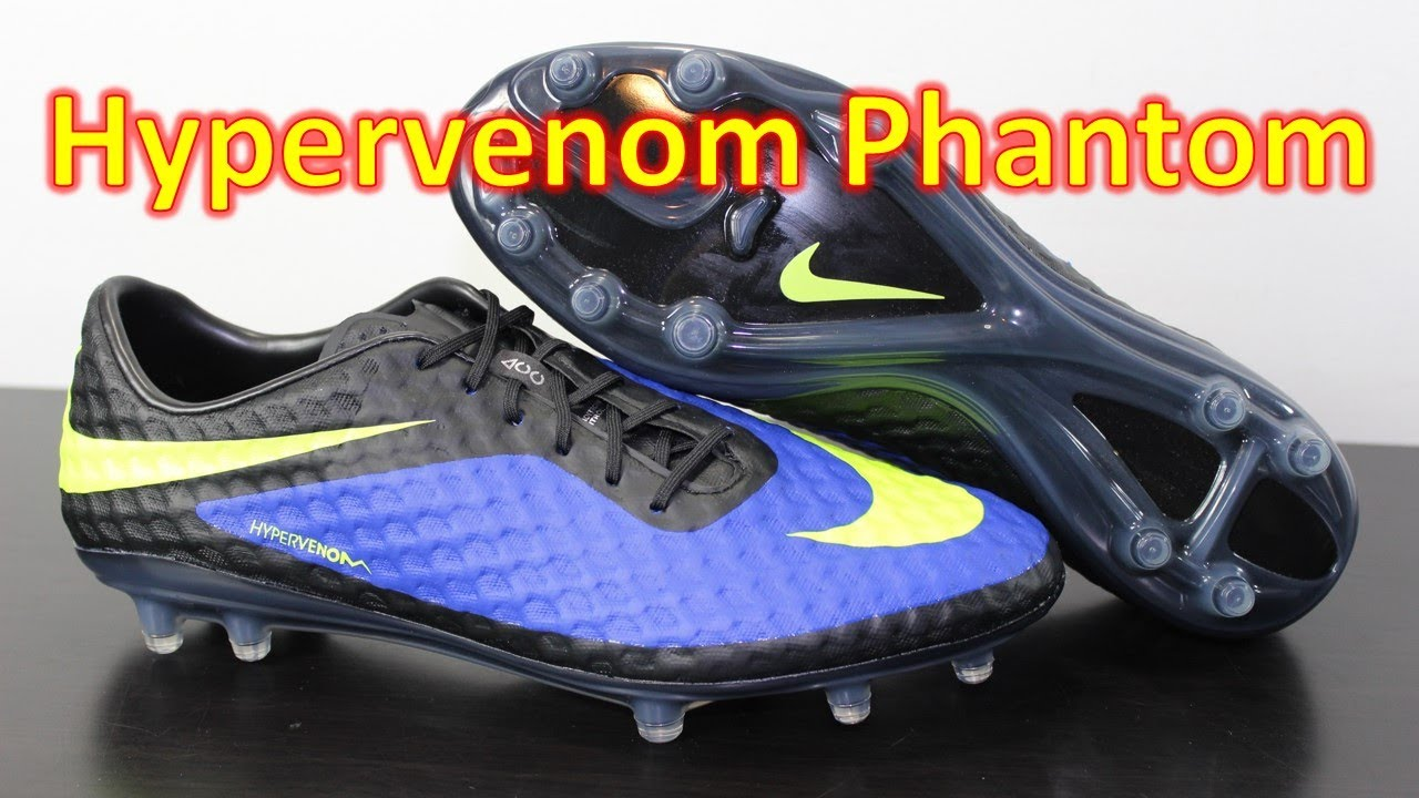 new concept 88775 1ef6a Nike Hypervenom Phantom Hyper Blue/Volt/Black - Unboxing + On Feet