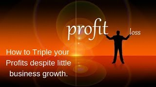 How to Triple your Profits despite little Business Growth