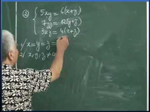 PP biến đổi tương đương để giải hệ phương trình Bài tập 2