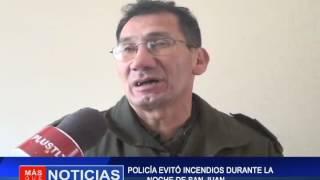 Policía  evitó incendios durante la noche de San Juan