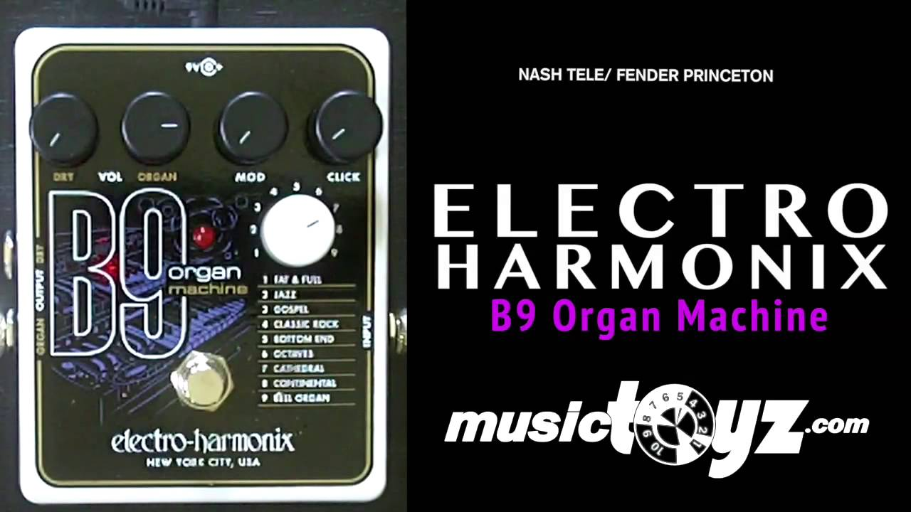 electro harmonix b9 organ guitar pedal youtube. Black Bedroom Furniture Sets. Home Design Ideas