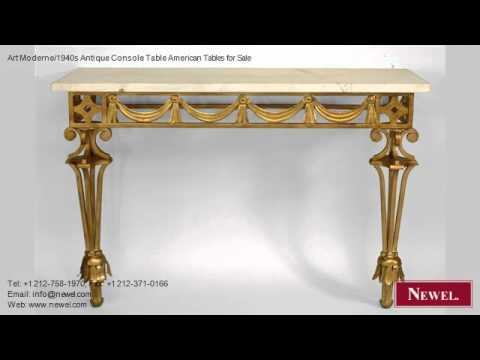 Art Moderne/1940s Antique Console Table American Tables