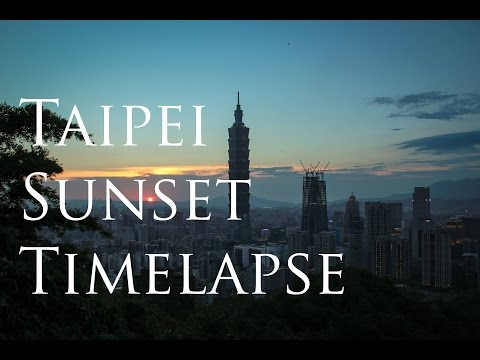 Taipei Skyline Sunset Time Lapse