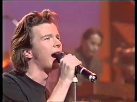 Rick Astley   Cry For help Live on TV HQ
