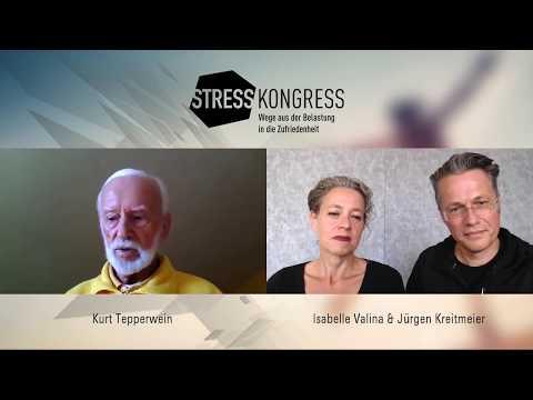"""Kurt Tepperwein mit Isabelle Valina & Jürgen Kreitmeier beim """"Stress-Kongress 2019"""""""