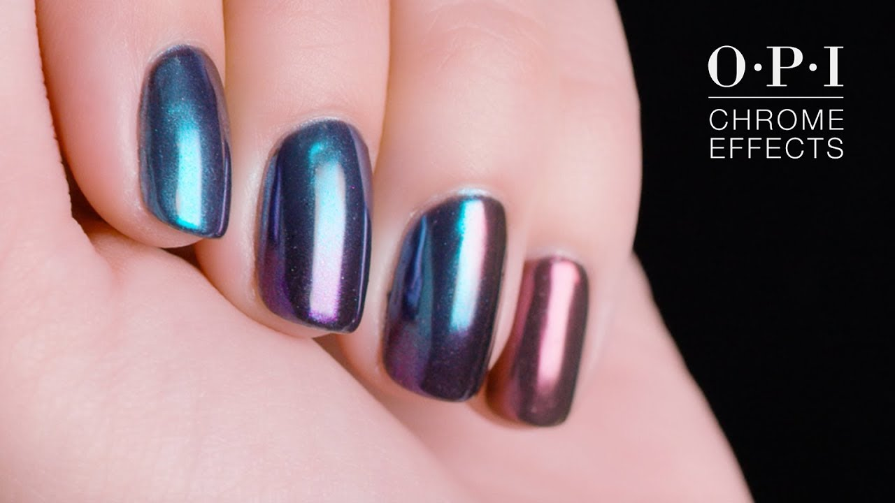 Opi Chrome Effects Holographic Nails Youtube