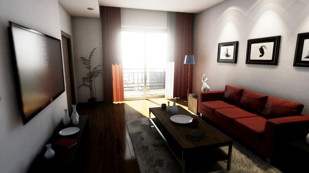 Unreal engine 4 photorealistic apartment for Interior design 4k images