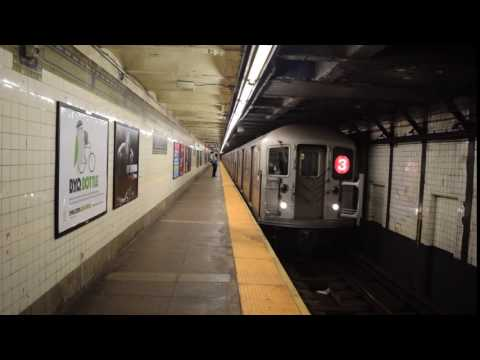 Manhattan-bound R62 (3) train entering Bergen Street (IRT Eastern Parkway Line)