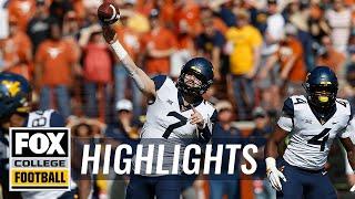Texas vs. West Virginia | FOX COLLEGE FOOTBALL HIGHLIGHTS