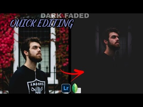 Dark Faded Effect In Snapseed | Avoid background disturbance in photo | create moody pic in snapseed