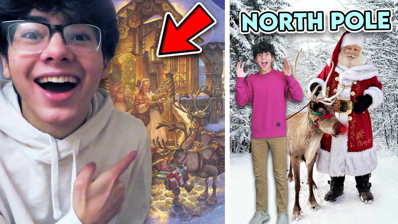VISITING THE NORTH POLE IN REAL LIFE!! *I MET SANTA AND HIS ELVES*